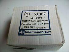 Nos Telemecanique Magnetic Ac Contactor 5x307 Lc1 D403h7 120 V Ac Coil