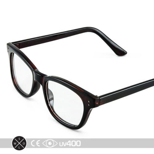 Deep Brown Vintage Cat Eye Clear Glasses Sunglasses High Fashion Stylish S136