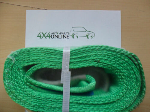 NEW 4x4 RECOVERY WINCH TOW STRAP 4M QUALITY OFF ROAD TREE STROP