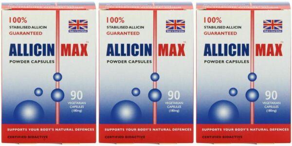 Allicin Max 180mg Vegetarian Capsules - 90 Count