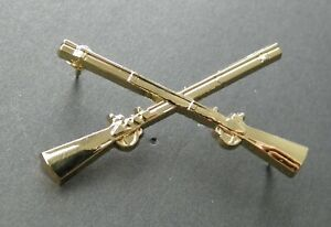 US-ARMY-INFANTRY-CROSSED-RIFLES-LARGE-LAPEL-HAT-PIN-BADGE-1-75-INCHES