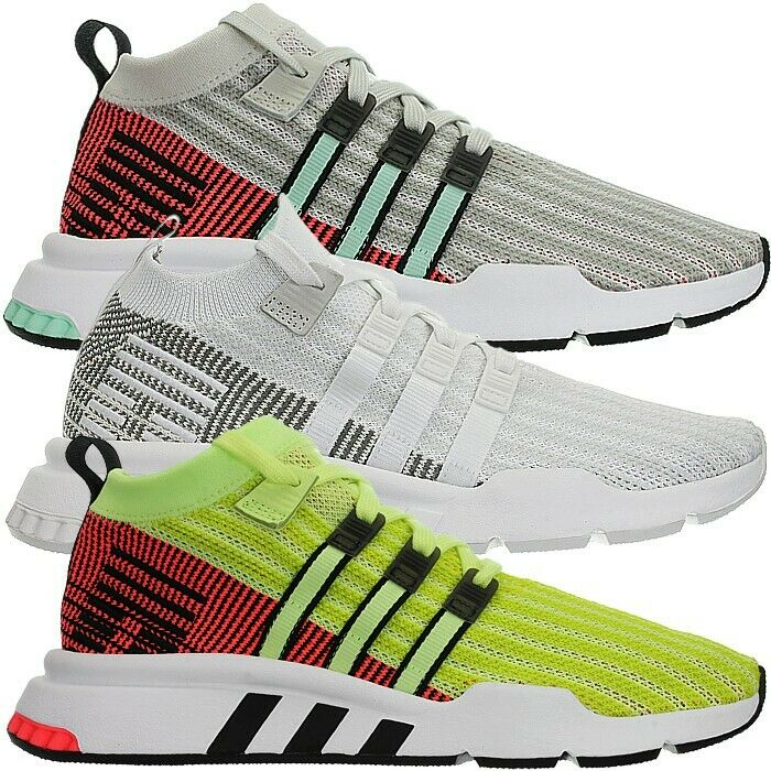 Adidas EQT support mid ADV primeknit señores mid-cut zapatillas beige blancoo amarillo nuevo
