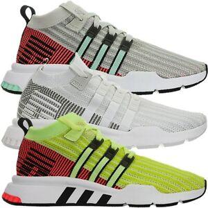 Details zu Adidas EQT Support Mid ADV PrimeKnit Herren mid-cut Sneakers  beige weiß gelb NEU