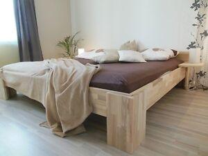 Bettgestell Bett 140x200 Fuß I Doppelbett Gästebett Futonbett Buche ...