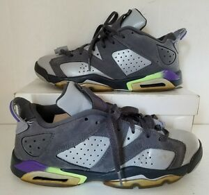 a2649ef20dd8d Nike Air Jordan 6 VI Retro Low GG GS Dark Grey Ultraviolet 768878 ...