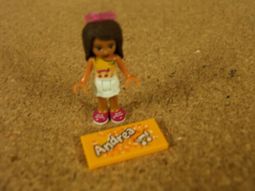 Lego Friends Minifig Mini doll Andrea and her name tile NEW r1