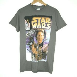Star-Wars-81-Comic-Book-Cover-Graphic-Mens-T-Shirt-Size-Small-Grey