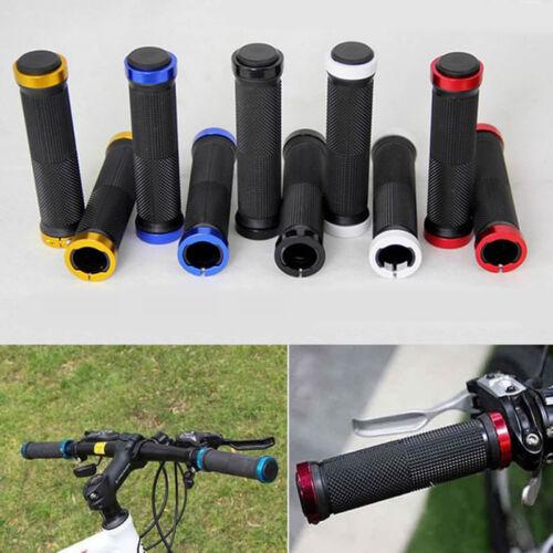 NEW Bicycle Handle Bar Cycling Handlebar Bike Grips Double Lock Rubber Anti-slip