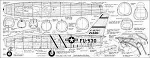 North American F86 Sabre Ligne De Contrôle Pour Pulse Jet Plans-afficher Le Titre D'origine Doux Et Doux