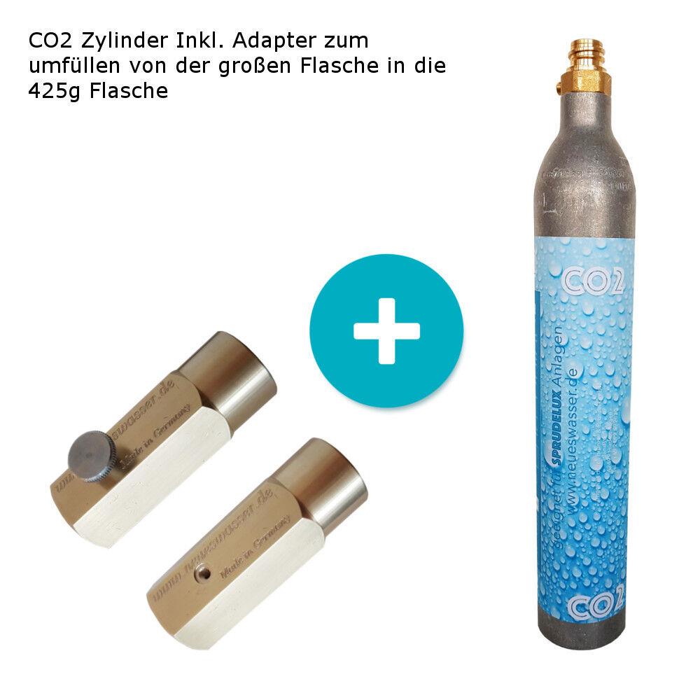 1 x Umfülladapter + 2 x CO2 Zylinder geeignet für Grohe Blau Home , Soda Stream