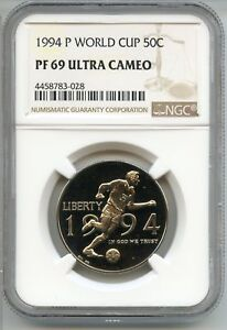 1994-S World Cup Silver Commemorative Dollar PR69DCAM PCGS Proof 69 Deep Cameo
