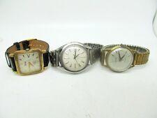 Vintage Lot of Mens mechanical  watches for parts repair Eterna-matic,Elgin,etc.