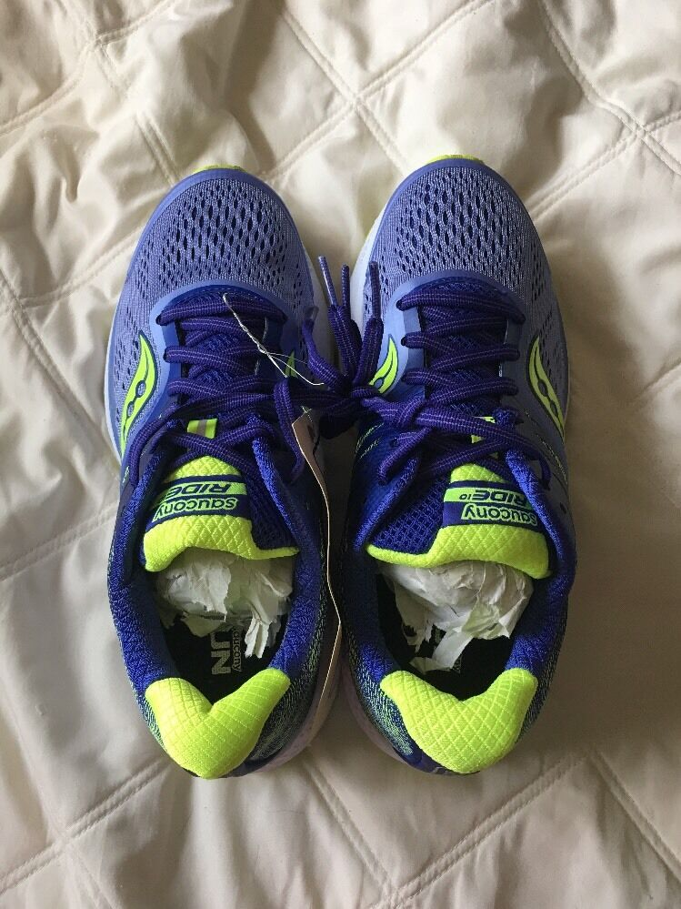 Saucing Ride 10 Women's Running, shoes Size 7, Purple And Yellow