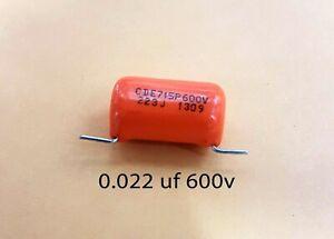 """1 Sprague """"Orange Drop"""" .022 mfd 600 volt capacitors"""