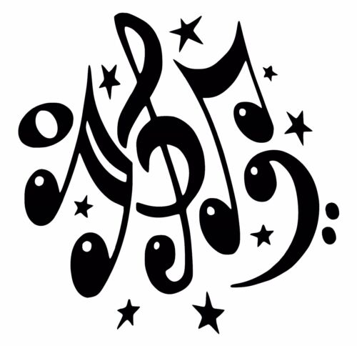 Music Notes Car Decal Sticker