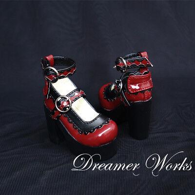 Mimi Collection MSD Doc 1//4 SD BJD Obitsu Doll Black Princess HighHeels Shoes