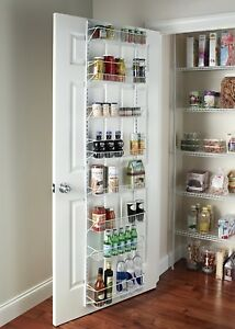Details about Pantry Door Spice Rack Organizer Over the Door Shelf Kitchen  Hanging Wall Mount