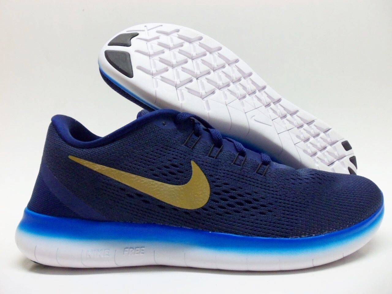 NIKE FREE RUN ID TRAINER MIDNIGHT NAVY/GOLD SIZE WOMEN'S 8.5 [857742-991]