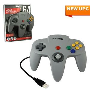 Retrolink-Wired-Nintendo-64-Style-USB-Controller-For-PC-And-Mac-Gray