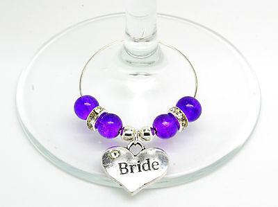 Umoristico Purple Crackle Personalizzato Matrimonio Famiglia Tavolo Partito Da Vino In Vetro Charms- Per Migliorare La Circolazione Sanguigna