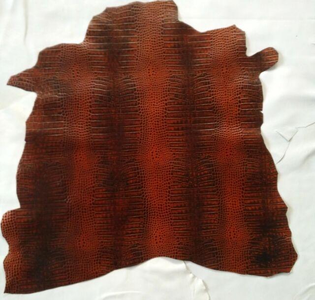 pelle di capra colore marroncino invecchiata con cera pellami pellame cuoio