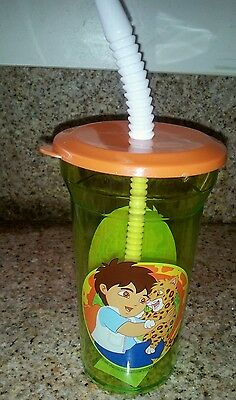 8 Tumbler 14oz + cap + straw Go Diego Go NEW party Favors