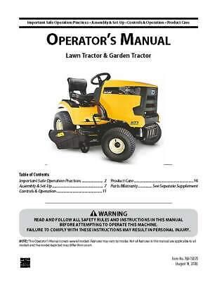 Cub Cadet Yanmar Sc Series Operator/'s Manual   Model Sc2450