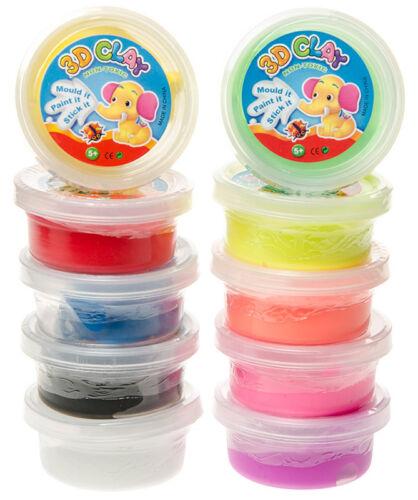 Hüpfknete Springknete Flummimasse in Dose 10 Farben Tombola Mitgebsel Knete Spielzeug
