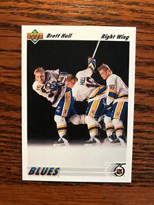 1991-92 Upper Deck #464 Brett Hull Hockey Card St. Louis Blues NHL Raw