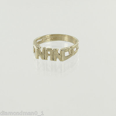 """Z+2 9ct Yellow Gold /""""SON/"""" Ring and Signet Rings in Finger Sizes Q"""