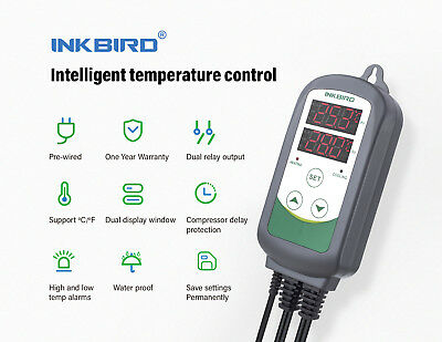 Inkbird ITC-308 Pre-Wired Digital 220V Temperature Controller thermostat heater