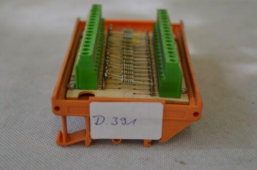 D.391 1kOhm 1/% Weidmüller Übergabebaustein mit 16 Wiederständen
