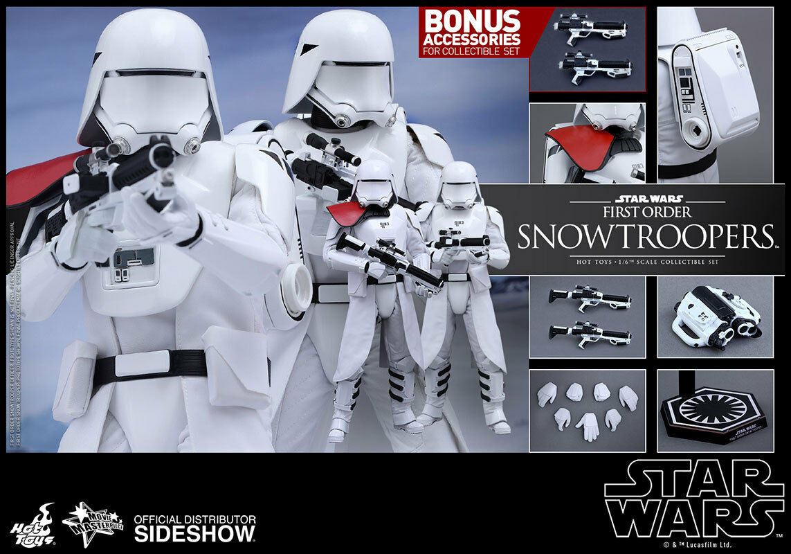 1 6 Star Wars Movie Masterpiece First Order Snowtroopers Snowtrooper Set HotToys
