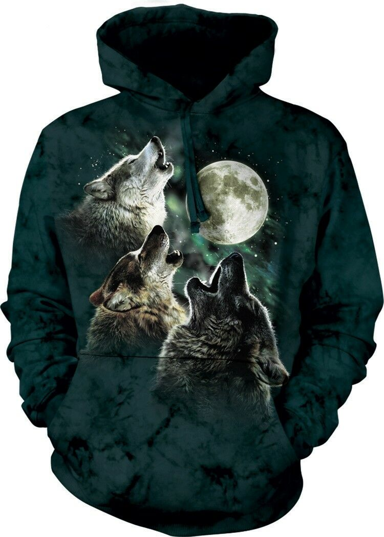 3 Wolf Moon Adult Adult Adult Wolf Hoodie the Mountain ad41b8