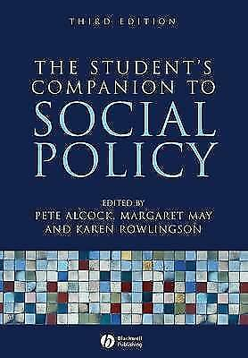 1 of 1 - The Student's Companion to Social Policy by John Wiley and Sons Ltd (Paperback,