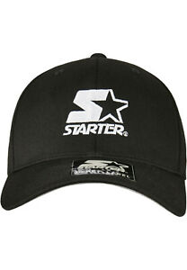 Starter-Logo-Flexfit-Cap-BLK-schwarz-NEUWARE-portofrei-Gr-S-M-amp-L-XL