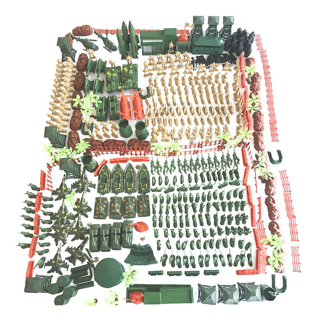 520 Pieces Military Playset Army Men Action Figures 5cm WWII Soldiers & Accs