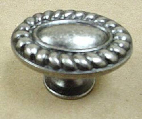 "PBF095Y-AP  1 1//2/"" Coastal Rope Cabinet Drawer Knob Knob Antique Pewter"
