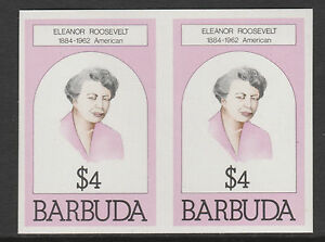 Barbuda (623) 1981 Eleanor Roosevelt $4 IMPERF PAIR u/m