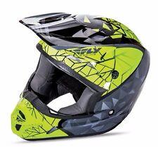 Kinetic Crux Black//Grey//Hi-Viz Fly Racing Youth MX Motocross Jersey BMX MTB