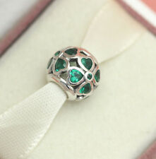 *Authentic Pandora Green Lucky Clover Bead 791496CZN St. Patricks Day Irish