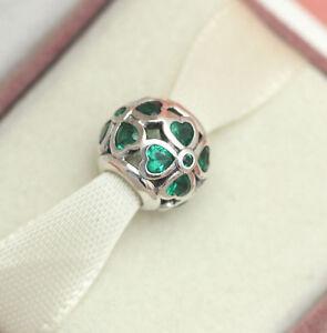 Authentic Pandora Green Lucky Clover Bead 791496czn St