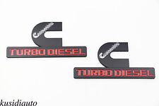 2x Alloy Cummins Turbo Diesel Emblem Badge Sticker Dodge Ram 1500 2500 3500