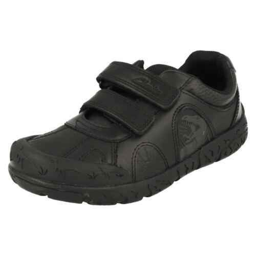 Boys Step Ajuste Piel G Zapatos De Doble Clarks Bronto Velcro 1OqfPwfxE
