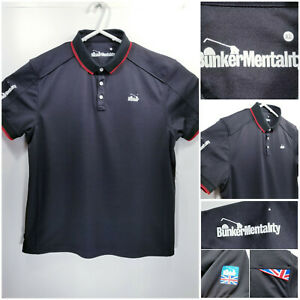 Bunker-Mentality-Mens-XL-Golf-Shirt-Polo-Black