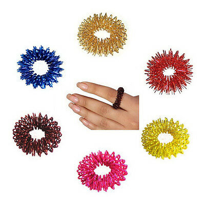 10pcs Acupressure Sujok (Su Jok) Pain Therapy Finger Massager Circulation Rings