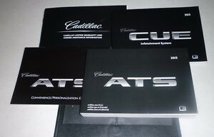 2013 cadillac ats owners manual set 13 w case infotainment cue rh ebay com 2013 cadillac ats owner's manual 2015 cadillac ats owners manual online