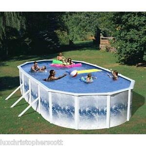 Heritage 24 39 x 12 39 x 52 steel wall above ground swimming pool complete w pump ebay for Heritage above ground swimming pools