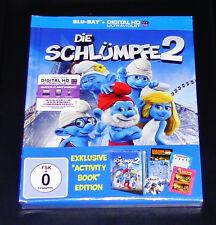 DIE SCHLÜMPFE 2  EXKLUSIVE ACTIVITY BOOK EDITION  DIGIBOOK  BLU RAY NEU & OVP