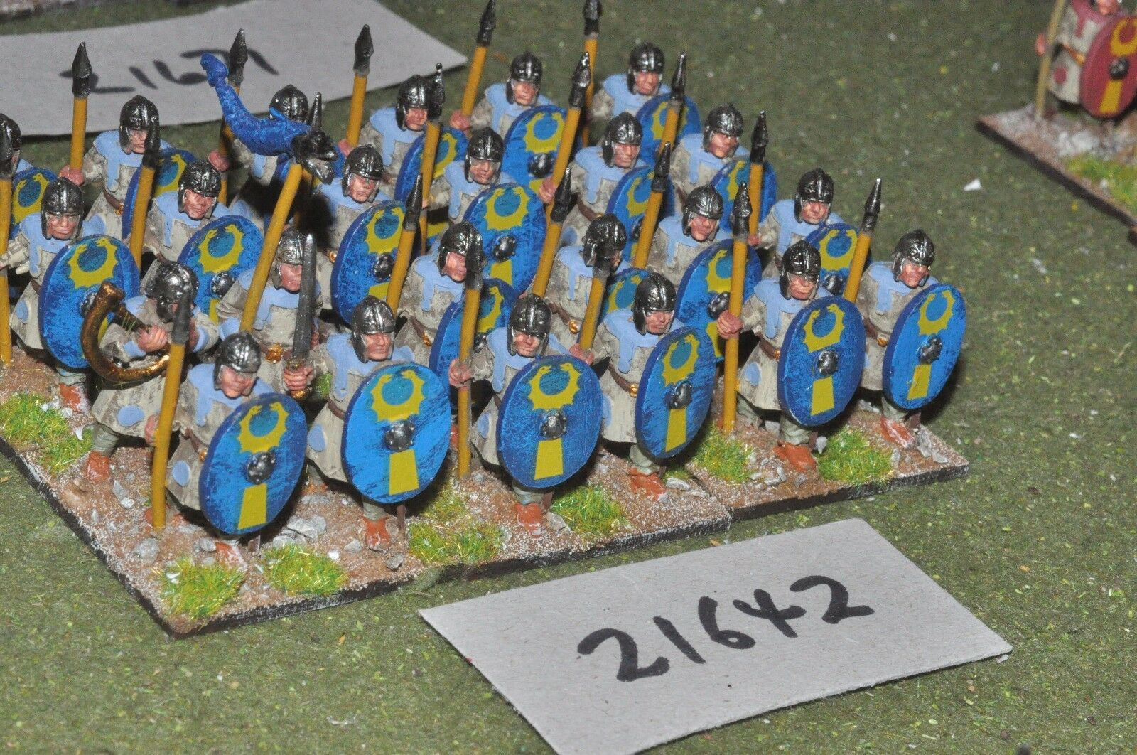 25mm roman era   roman - legionaries 24 figs infantry - inf (21642)